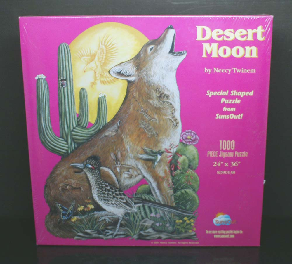 Desert Moon Shaped Jigsaw Puzzle <front>
